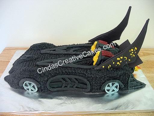 Batman Car 3D Cake CakeCentralcom