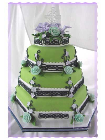 irish wedding cakes pictures shamrock or celtic wedding cake cakecentral 16485