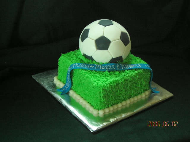 How To Decorate A Soccer Ball Cake Delectable Here's My Soccer Ball Cakei'm Happy With It  Cakecentral Design Decoration