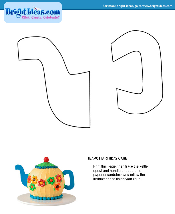 Instructions For Teapot Or Hat Cake - CakeCentral.com