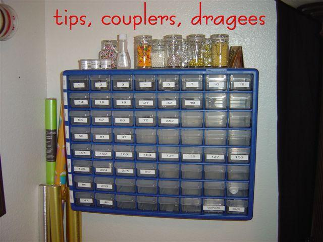 Organizing All Your Cake Stuff Photo Tutorial
