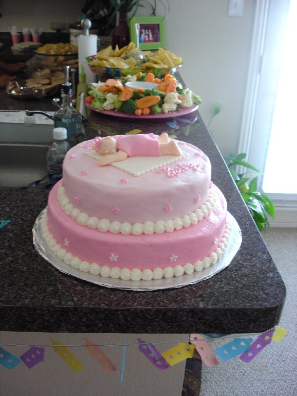Easy Cake Decorating For Baby Shower : Desperate For An Easy Fondant Baby Shower Cake Idea ...