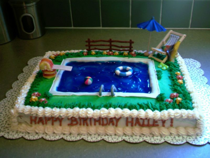 Any Swimming Pool Cakes Out There