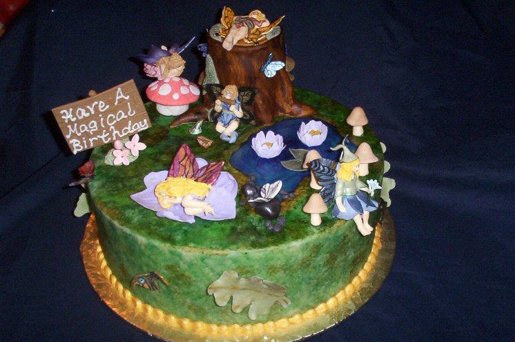 Birthday Cake Ideas Enchanted Forest Theme : Enchanted Forest / Fairy Cake Idea... - CakeCentral.com