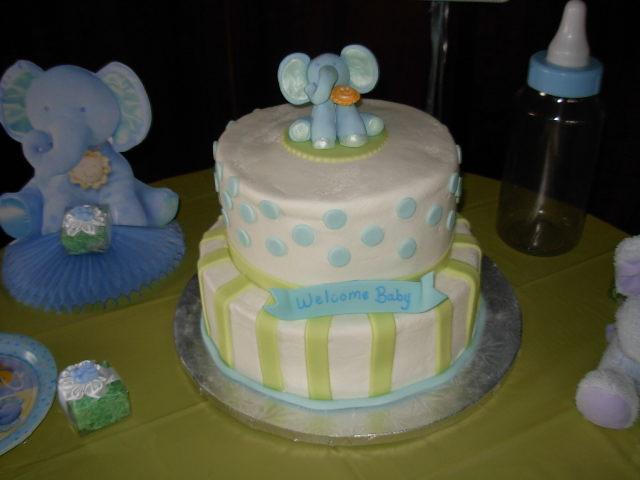 foto del bizcocho de baby shower
