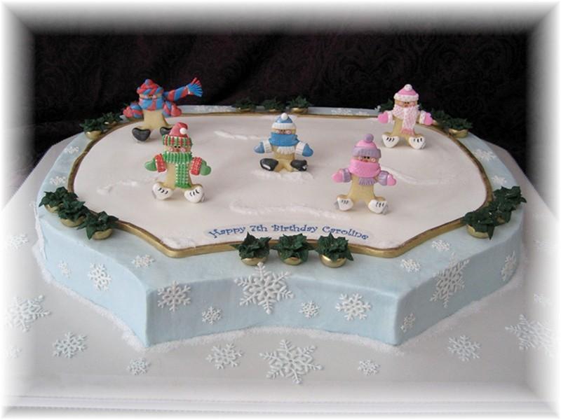 Ice Skating Cake Decorating Ideas