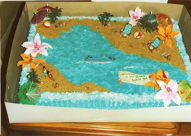 Tropical Theme Sheet Cake For Shower CakeCentralcom