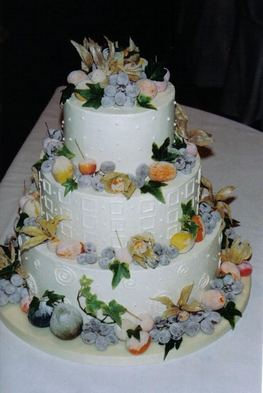 Sugared Grapes Wedding Cakes