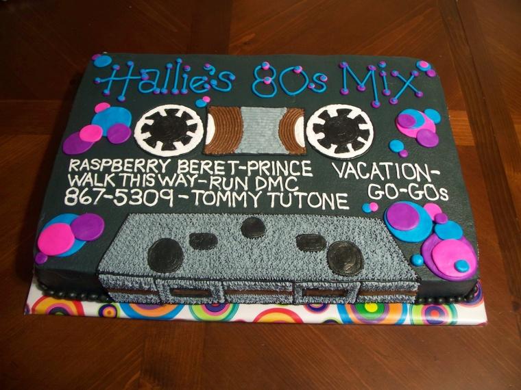 80S Retro Themed Cake