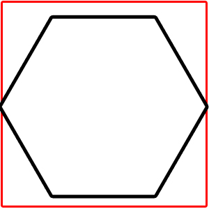how to make hexagon from square