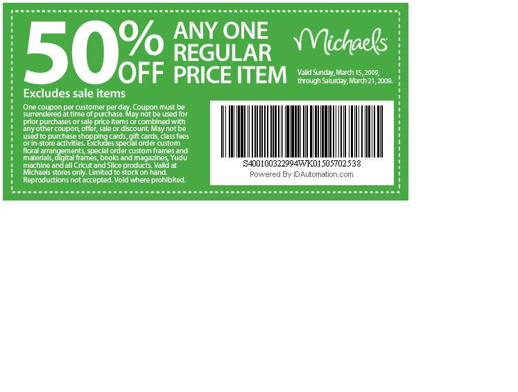 Michaels Coupon - CakeCentral.com