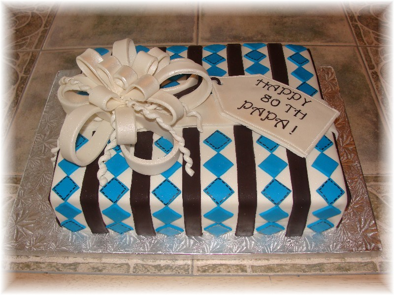 I Just Had A Cake For Gentleman Turning 75 And She Left It Open To Me Did Say Liked The Colors Of Brown Blue
