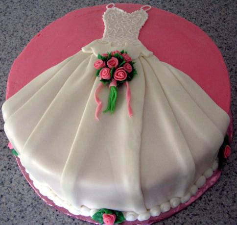 Bridal Shower Dress Cake - CakeCentral.com