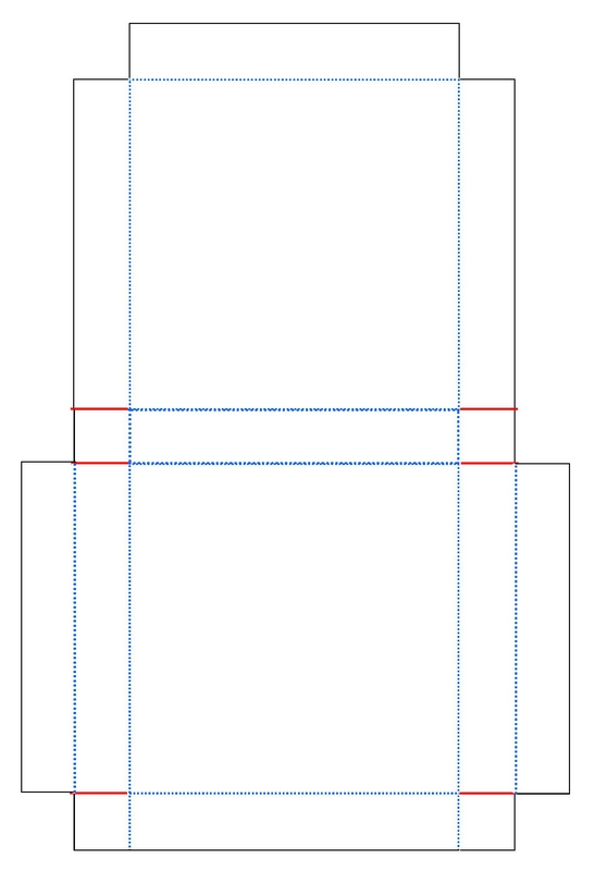 Template For Minature Cake Box