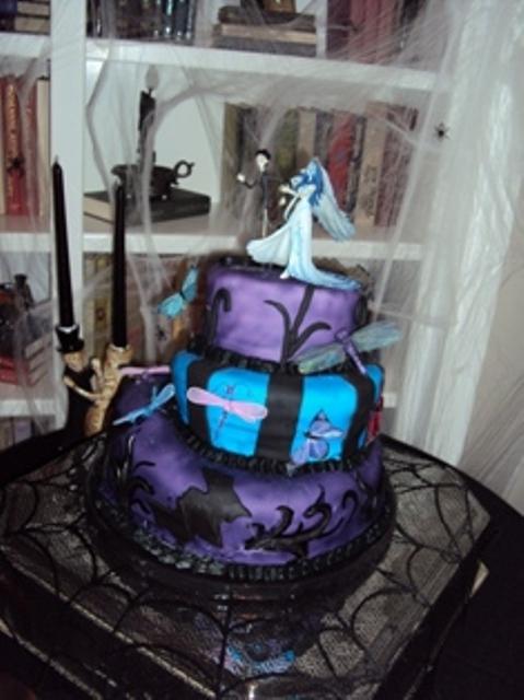 1St Wedding Cake - Corpse Bride Cake! - CakeCentral.com