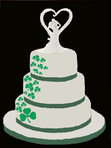 irish wedding cakes pictures wedding cake shamrock clover sizes cakecentral 16485