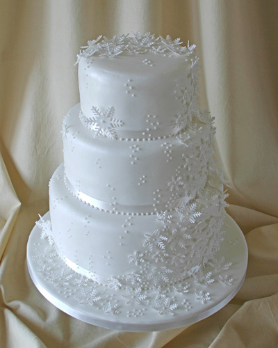 winter themed wedding cakes 3 snowflake cake cakecentral 27548