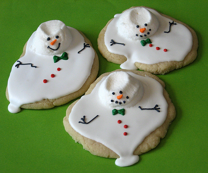 Melted Snowman Cookie Tutorial Is Finally Complete Cakecentral Com