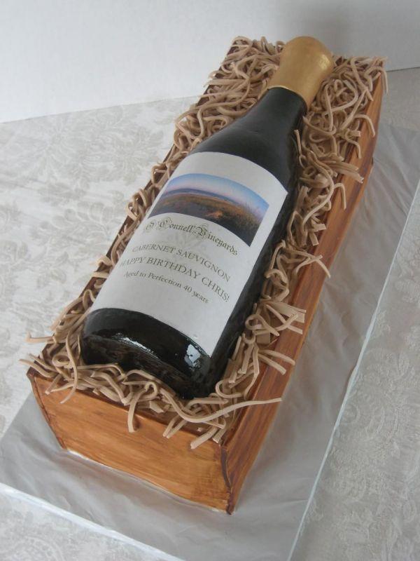 Wine Bottle In Box Cake