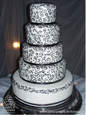 Black Icing On Wedding Cake