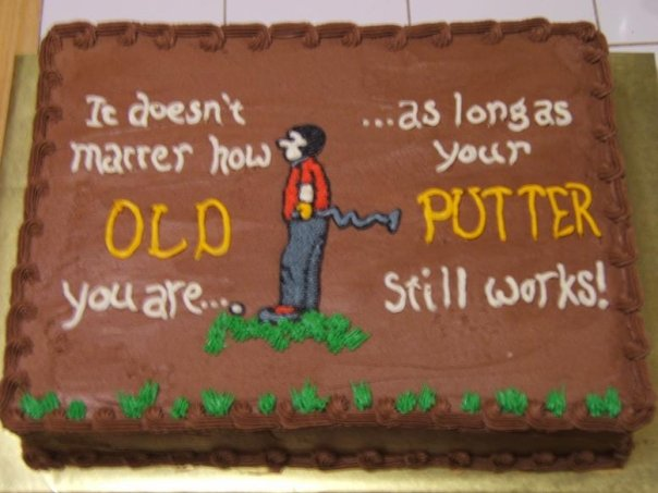 Sensational Golf Cake Witty Or Creative Saying Cakecentral Com Funny Birthday Cards Online Overcheapnameinfo