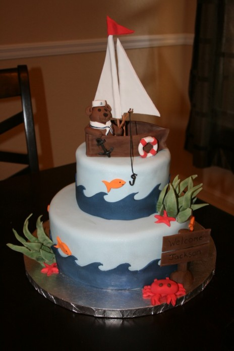 how to make a sailboat out of fondant