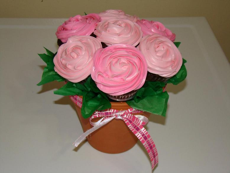 Cupcake Flower Pot Arrangments - CakeCentral.com