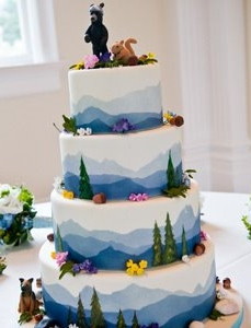 mountain wedding cake designs any ideas on how to create this mountain effect 17622