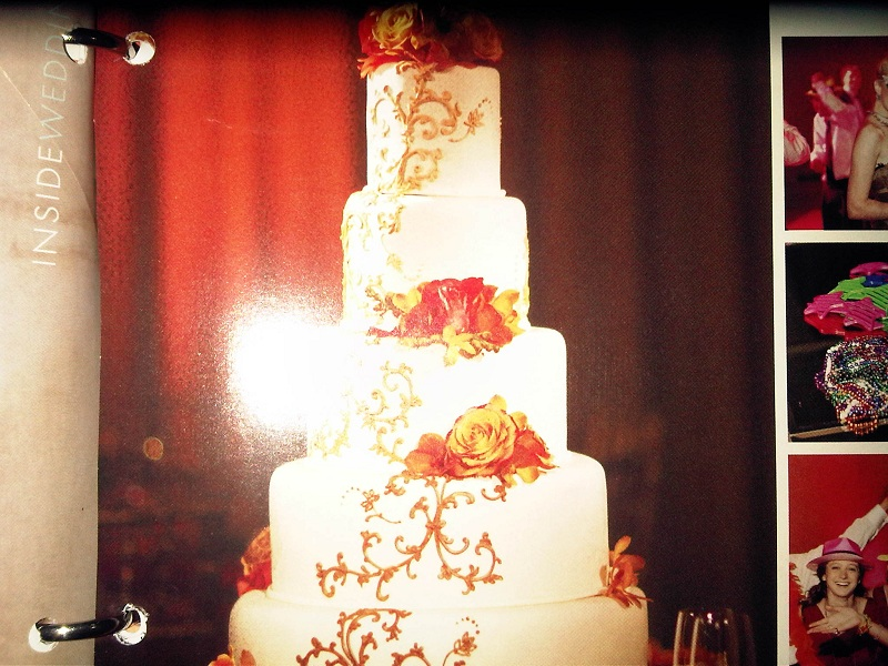 FreeHand Piping Or Stencil For This Wedding Cake CakeCentralcom