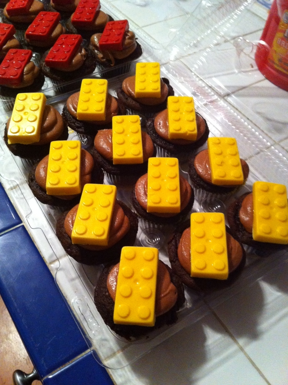 Chocolate Cupcakes with Lego Topper