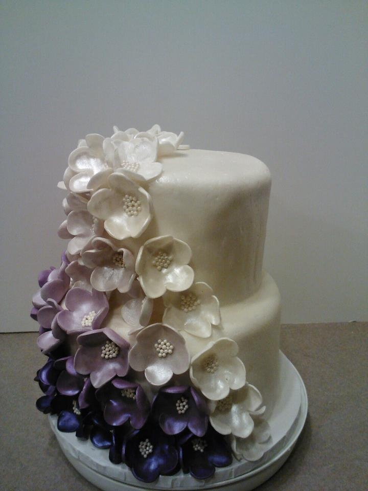 A friend saw a larger version of this cake and wanted a small one for her birthday.