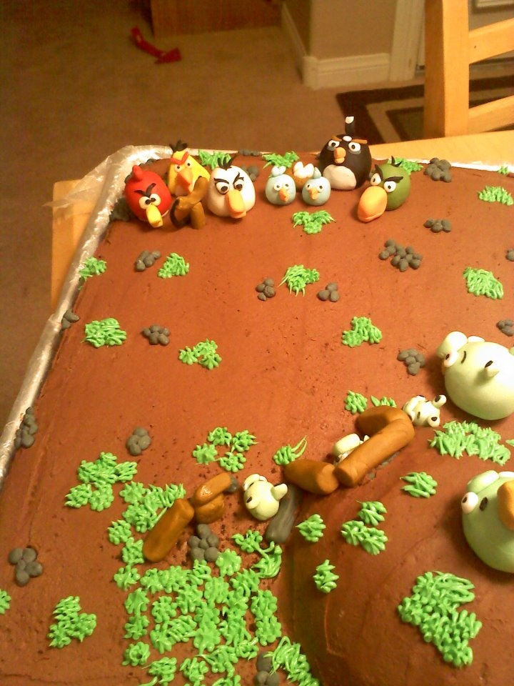 Angry Birds Birthday cake for a 4 yr old
