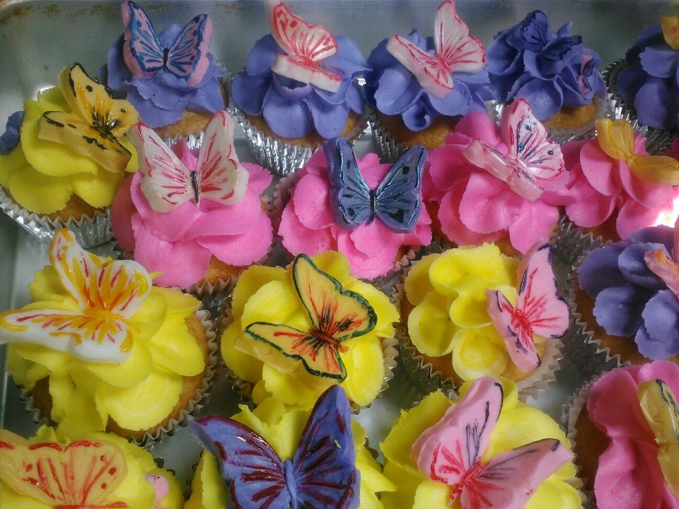 Butterfly CupCakes.. Hand painted