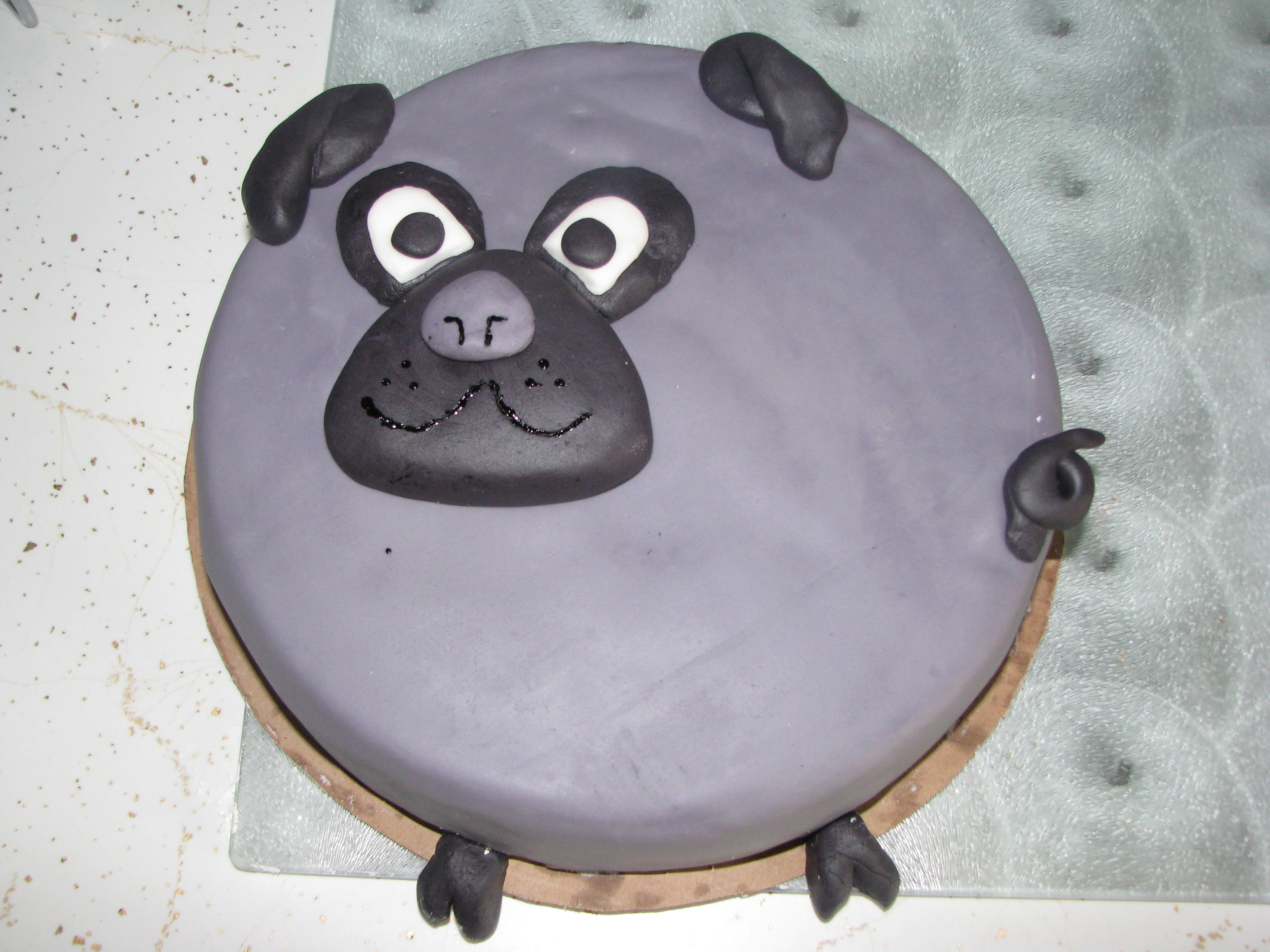 A Cake done for a birthday of a pug lover!