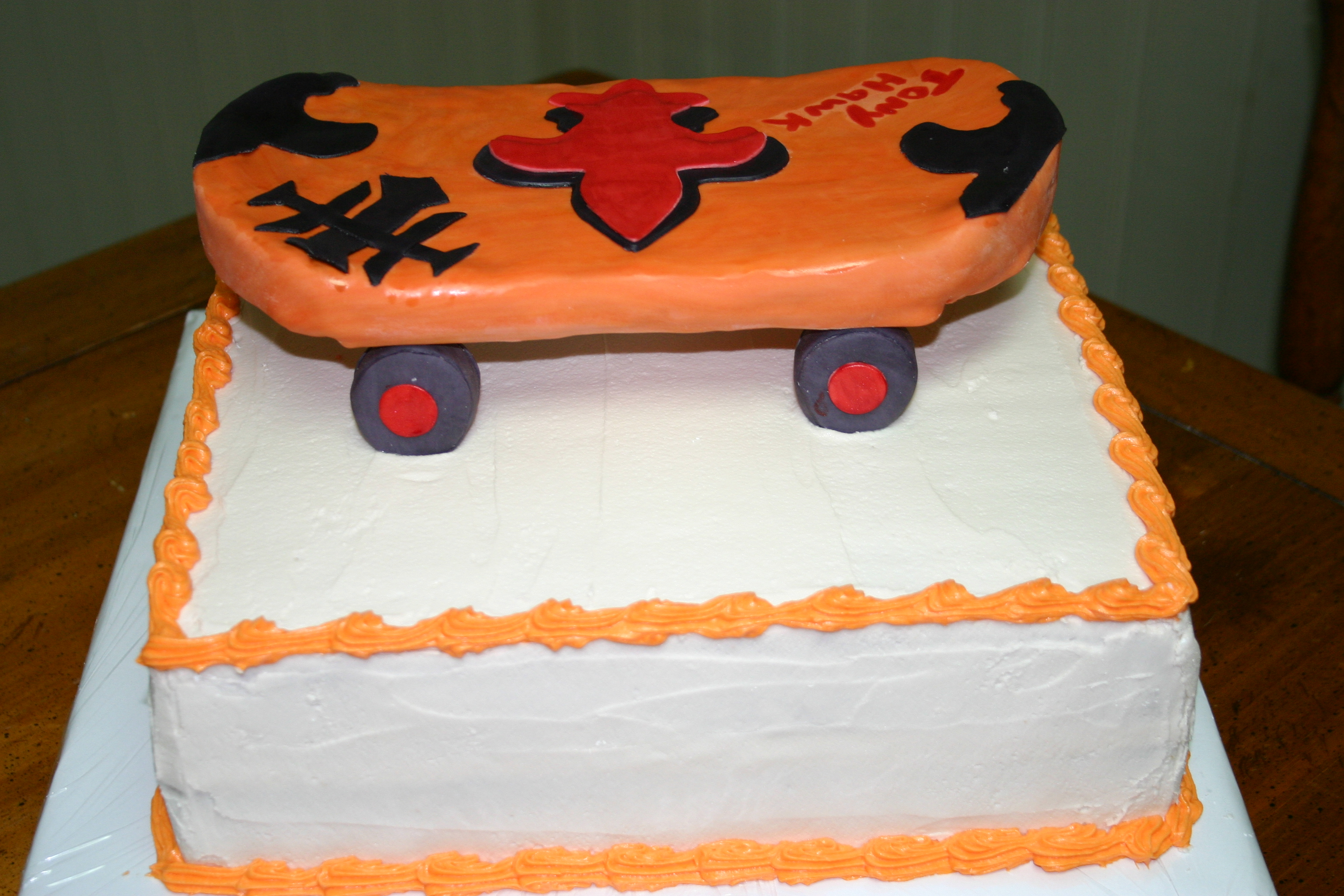 My 1st skateboard cake hope you like thanks for looking!