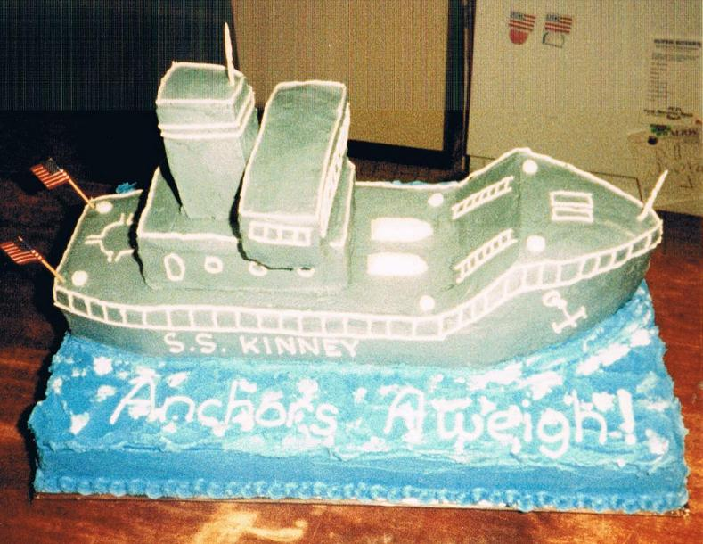 This was my first carved cake made for a young man joining the Navy. All frosted in buttercream.