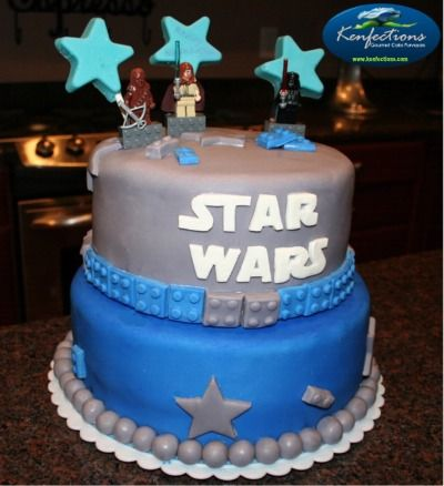 Took the direction from another star wars cake a client saw on somewhere.  Simply tried to design what she explained and landed on this concept.